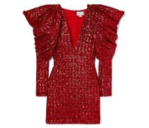 Minikleid aus Paillettenverziertem Chiffon