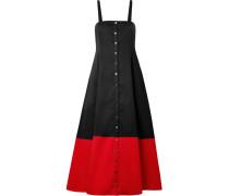 Marina Zweifarbiges Kleid aus Biobaumwolle