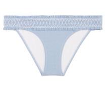 Cassis Gerafftes Bikini-höschen aus Strech-piqué