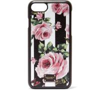 Floral Bedruckte Iphone 7-hülle aus Strukturiertem Leder