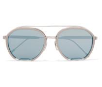 Verspiegelte Pilotensonnenbrille aus Azetat