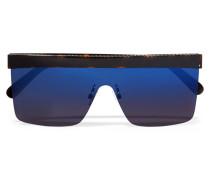 Verspiegelte Azetatsonnenbrille mit D-rahmen