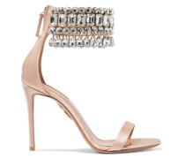 Gem Palace Sandalen aus Satin mit Kristallen