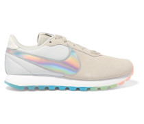 Pre-love O.x. Sneakers aus Veloursleder und Canvas