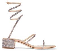 Cleo Sandalen aus Satin mit Kristallen