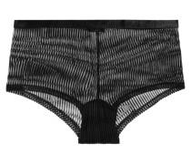Powerhouse Panty aus Beflocktem Stretch-tüll