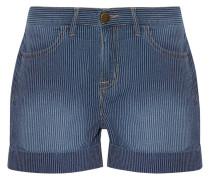 The Rolled Boyfriend Gestreifte Shorts aus Baumwolle