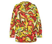 Oversized-bluse aus Bedrucktem Seidenkrepon