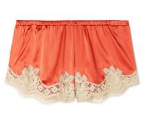 Shorts aus Satin aus einer Seidenmischung