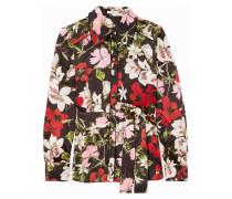 Xen Bluse aus Seidensatin mit Blumenprint