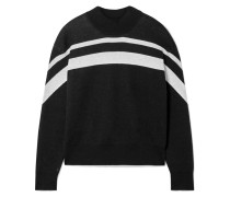 Gestreifter Pullover aus einer Baumwollmischung
