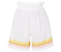 Leinen-shorts mit Zackenlitzen