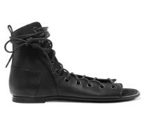 Sandalen aus Leder mit Schnürung