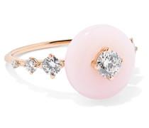 Orbit Ring aus 18 Karat  mit Diamanten und Opal
