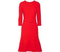 Kleid aus einer Wollmischung mit Gürtel