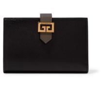 Gv3 Portemonnaie aus Glattem und Strukturiertem Leder
