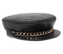Marina Kettenverzierte Kappe aus Leder