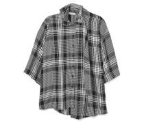 Mehrlagiges Hemd aus Karierter Popeline