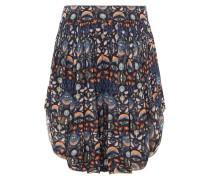 Shorts aus Floral Bedrucktem Georgette