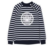 Bedrucktes Sweatshirt aus Gestreiftem Baumwoll-jersey