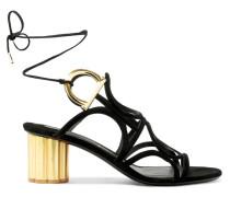 Vinci Sandalen aus Veloursleder mit Cut-outs