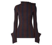 Shift Gestreifter Pullover aus einer Gerippten Baumwoll-kaschmirmischung