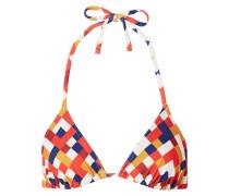 Mosaic Box Bedrucktes Triangel-bikini-oberteil