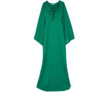Verzierte Robe aus Crêpe De Chine aus Seide