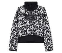 Sweatshirt aus Floralem Jacquard