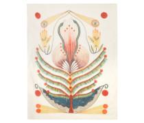 Bedruckter Schal aus Twill aus einer Modal-kaschmirmischung