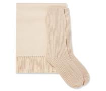 Set aus Schal und Socken aus Kaschmir