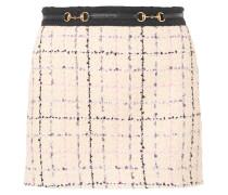 Verzierter Minirock aus Bouclé-tweed aus einer Baumwollmischung