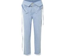 Hoch Sitzende Jeans mit Gürteln