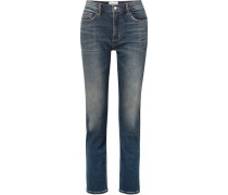 The Stovepipe Hoch Sitzende Jeans