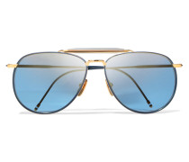 farbene Pilotensonnenbrille aus Azetat