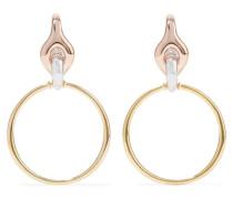 Halo Ohrringe aus Silber-, - und Rosé-vermeil