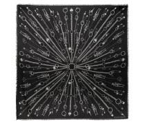 Tuch aus Bedrucktem Twill aus einer Modal-wollmischung