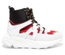 Brooklyn High-top-sneakers aus Veloursleder, Leder, Gummi und Mesh