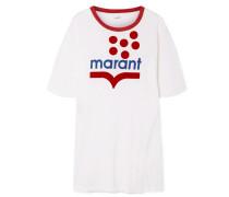 Kutai Beflocktes T-shirt aus Leinen-jersey