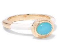 Candy Ring aus 14 Karat  mit Emaille und Opal