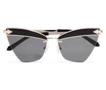 Sadie Goldfarbene Sonnenbrille aus Azetat