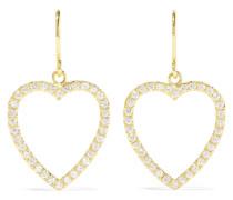 Open Heart Ohrringe aus 18 Karat  mit Diamanten