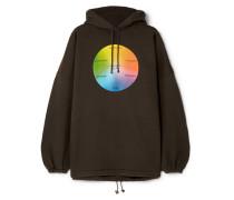 Oversized-hoodie aus Bedrucktem Jersey aus einer Baumwollmischung