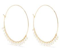 Creolen aus 14 Karat  mit Perlen