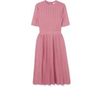 Kleid aus Stretch-rippstrick