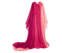 Robe aus Seidenmusselin in Colour-block-optik