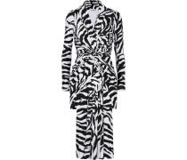 Kleid aus Stretch-satin mit Zebraprint
