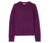 Pullover aus einer Gebürsteten Woll-kaschmirmischung