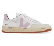 V-12 Sneakers aus Mesh, Leder und Nubukleder