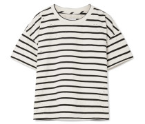 The Roadie Gestreiftes T-shirt aus einer Baumwollmischung in Distressed-optik